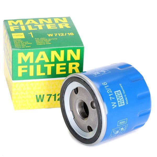 Filtro de aceite de motor MANN-FILTER W 712/16 4011558726201