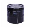 FIAT PALIO Olejový filtr: MANN-FILTER W 712/22