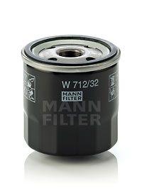 MANN-FILTER  W 712/32 Oil Filter Ø: 76mm, Outer diameter 2: 71mm, Inner Diameter 2: 62mm, Inner Diameter 2: 62mm, Height: 79mm