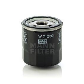 MANN-FILTER  W 712/32 Ölfilter Ø: 76mm, Außendurchmesser 2: 71mm, Innendurchmesser 2: 62mm, Höhe: 79mm