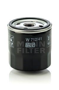 MANN-FILTER  W 712/41 Ölfilter Ø: 76mm, Außendurchmesser 2: 71mm, Innendurchmesser 2: 62mm, Innendurchmesser 2: 62mm, Höhe: 79mm