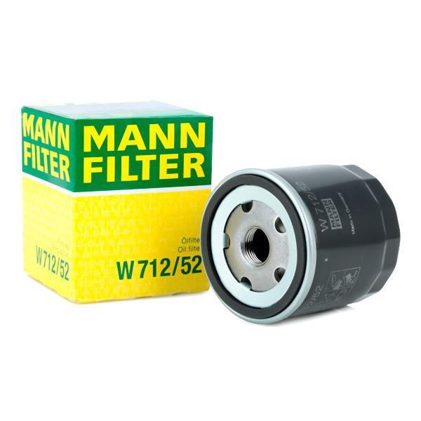 Filtru ulei MANN-FILTER W712/52 cunoștințe de specialitate
