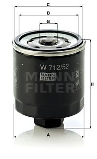 MANN-FILTER W712/52 EAN:4011558729509 negozio online