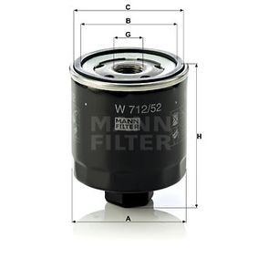 MANN-FILTER W712/52 EAN:4011558729509 Κατάστημα σε απευθείας σύνδεση