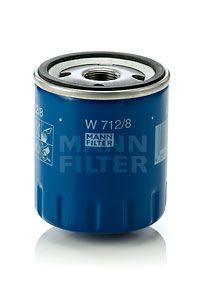 MANN-FILTER  W 712/8 Olajszűrő Ø: 76mm, Külső átmérő 2: 71mm, Belső átmérő 2: 62mm, Magasság: 89mm