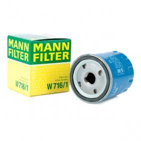 Revêtement / grille avant PEUGEOT 307 (3A/C) 2.0 HDi 90 de Année 08.2000 90 CH: Filtre à huile (W 716/1) pour des MANN-FILTER
