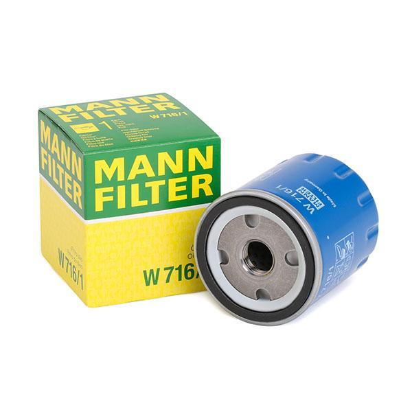 Filtro de aceite de motor MANN-FILTER W 716/1 4011558734107