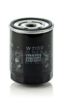 MANN-FILTER  W 717/2 Ölfilter Ø: 76mm, Außendurchmesser 2: 71mm, Innendurchmesser 2: 62mm, Innendurchmesser 2: 62mm, Höhe: 100mm