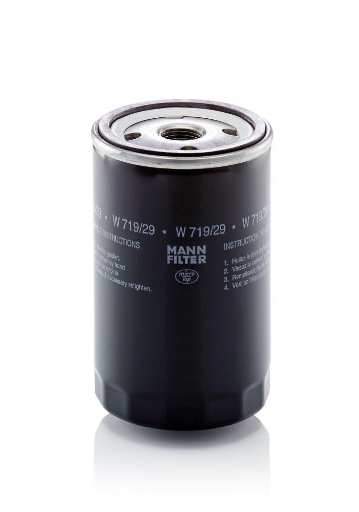MANN-FILTER Ölfilter mit zwei Rücklaufsperrventilen  W 719/29
