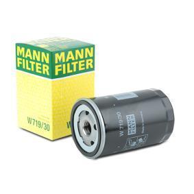 MANN-FILTER Ölfilter W 719/30 für AUDI 80 (8C, B4) 2.8 quattro ab Baujahr 09.1991, 174 PS