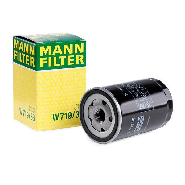 MANN-FILTER Ölfilter für Fahrzeuge mit Ölkühler  mit einem Rücklaufsperrventil  W 719/36