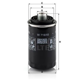 MANN-FILTER W719/45 EAN:4011558758806 Κατάστημα σε απευθείας σύνδεση