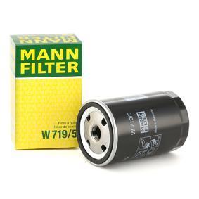 MANN-FILTER Ölfilter W 719/5 für AUDI 100 (44, 44Q, C3) 1.8 ab Baujahr 02.1986, 88 PS