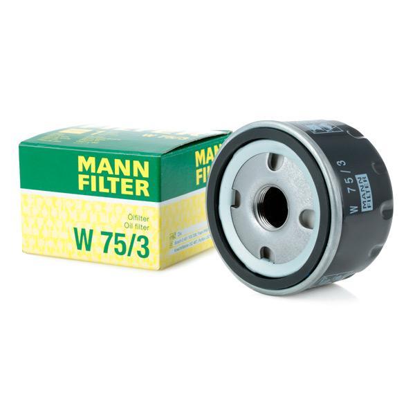 Filtre d'huile MANN-FILTER W75/3 connaissances d'experts