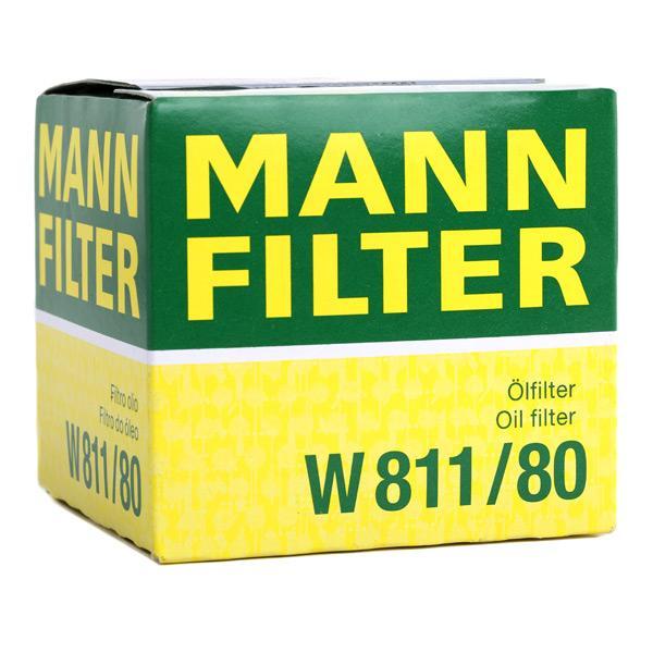 Oliefilter MANN-FILTER W 811/80 4011558720001