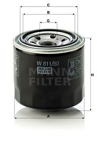 Article № W 811/80 MANN-FILTER prices