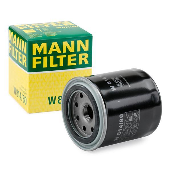 Ölfilter MANN-FILTER W814/80 Erfahrung