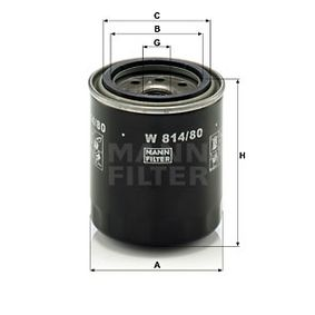 Article № W 814/80 MANN-FILTER prices