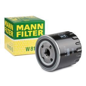 MANN-FILTER  W 815/5 Маслен филтър Ø: 86мм, външен диаметър 2: 71мм, вътрешен диаметър 2: 62мм, височина: 89мм