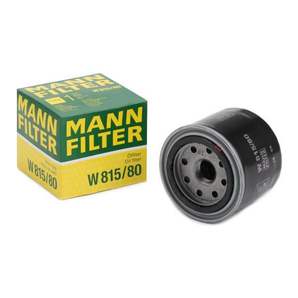 Filtro de Aceite MANN-FILTER W815/80 conocimiento experto