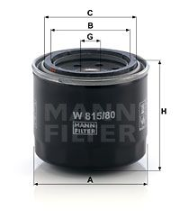 Article № W 815/80 MANN-FILTER prices