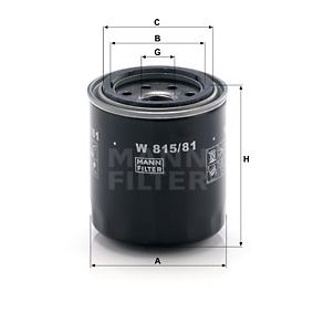 Ölfilter Ø: 85mm, Außendurchmesser 2: 65mm, Innendurchmesser 2: 57mm, Innendurchmesser 2: 57mm, Höhe: 88mm mit OEM-Nummer 15400 PA6 004