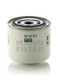 MANN-FILTER  W 917/1 Ölfilter Ø: 93mm, Außendurchmesser 2: 71mm, Innendurchmesser 2: 62mm, Innendurchmesser 2: 62mm, Höhe: 85mm