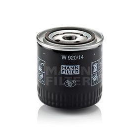 Bomba de Inyección NISSAN SERENA (C23M) 2.3 D de Año 01.1995 75 CV: Filtro de aceite (W 920/14) para de MANN-FILTER