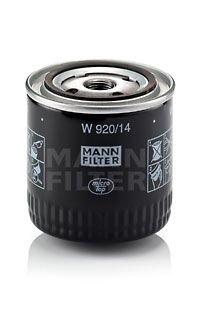 MANN-FILTER  W 920/14 Ölfilter Ø: 93mm, Außendurchmesser 2: 71mm, Innendurchmesser 2: 62mm, Innendurchmesser 2: 62mm, Höhe: 95mm