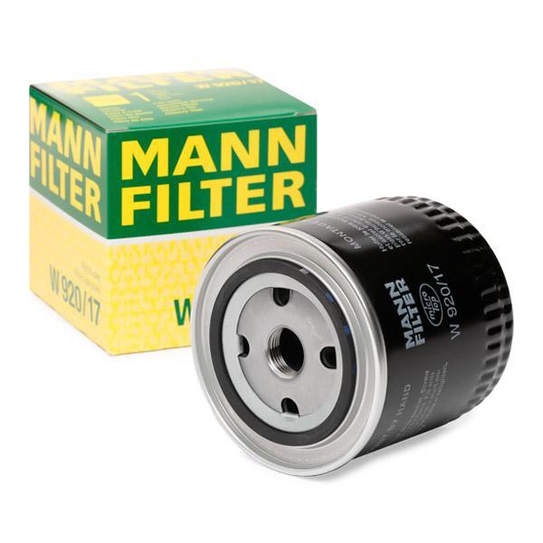 Ölfilter MANN-FILTER W920/17 Erfahrung