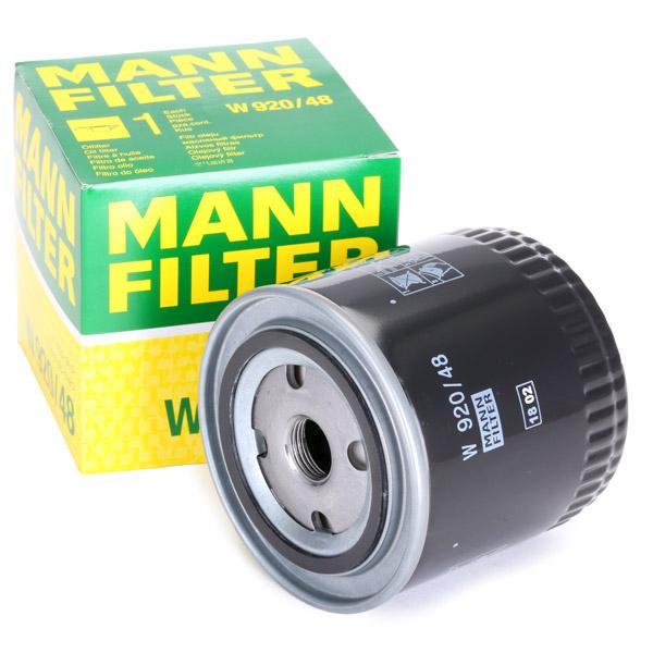 Ölfilter MANN-FILTER W920/48 Erfahrung