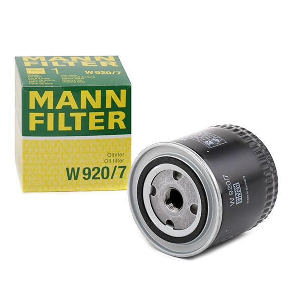 MANN-FILTER Filtro de aceite W 920/7