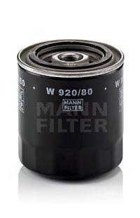 MANN-FILTER  W 920/80 Ölfilter Ø: 93mm, Außendurchmesser 2: 71mm, Innendurchmesser 2: 63mm, Innendurchmesser 2: 63mm, Höhe: 97mm