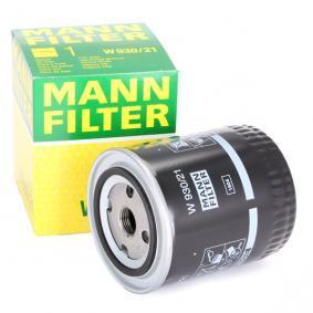 MANN-FILTER Ölfilter W 930/21 für AUDI 80 (8C, B4) 2.8 quattro ab Baujahr 09.1991, 174 PS