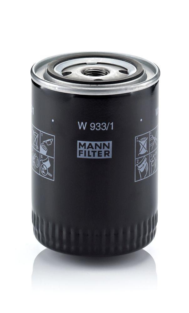 MANN-FILTER  W 933/1 Ölfilter Ø: 93mm, Außendurchmesser 2: 71mm, Innendurchmesser 2: 62mm, Innendurchmesser 2: 62mm, Höhe: 130mm
