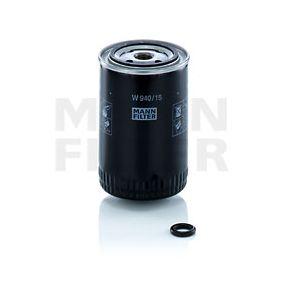 MANN-FILTER  W 940/15 n Φίλτρο λαδιού Ø: 93mm, Εξωτερική διάμετρος 2: 71mm, Εσωτερική διάμετρος 2: 62mm, Ύψος: 142mm