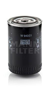 MANN-FILTER  W 940/21 Ölfilter Ø: 93mm, Außendurchmesser 2: 71mm, Innendurchmesser 2: 62mm, Innendurchmesser 2: 62mm, Höhe: 142mm