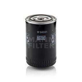MANN-FILTER  W 940/21 Φίλτρο λαδιού Ø: 93mm, Εξωτερική διάμετρος 2: 71mm, Εσωτερική διάμετρος 2: 62mm, Ύψος: 142mm