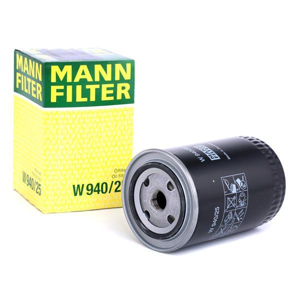 Filtru ulei MANN-FILTER W940/25 cunoștințe de specialitate