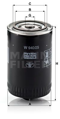 MANN-FILTER W940/25 EAN:4011558712907 online store