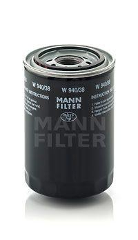 MANN-FILTER  W 940/38 Ölfilter Ø: 93mm, Außendurchmesser 2: 72mm, Innendurchmesser 2: 62mm, Innendurchmesser 2: 62mm, Höhe: 141mm