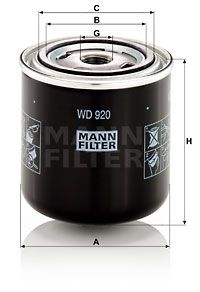 MANN-FILTER  WD 920 Filter, operating hydraulics