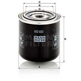 Filter, operating hydraulics with OEM Number 054750