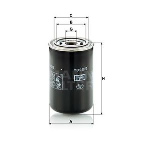 MANN-FILTER  WD 940/2 Filter, operating hydraulics