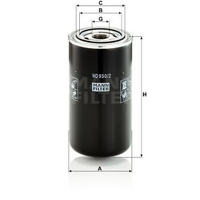 Hydraulikfilter, Automatikgetriebe Höhe: 172mm mit OEM-Nummer 0009830615