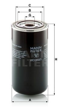 MANN-FILTER  WD 950/5 Filter, operating hydraulics