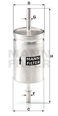 WK 512 MANN-FILTER from manufacturer up to - 26% off!