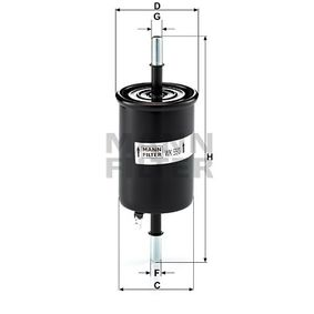 Fuel filter Height: 162mm with OEM Number 25121074