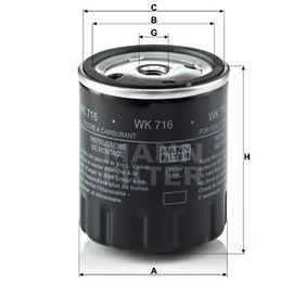 WK 716 MANN-FILTER from manufacturer up to - 27% off!
