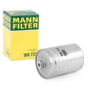 MANN-FILTER Kraftstofffilter WK 725 für AUDI 80 (8C, B4) 2.8 quattro ab Baujahr 09.1991, 174 PS